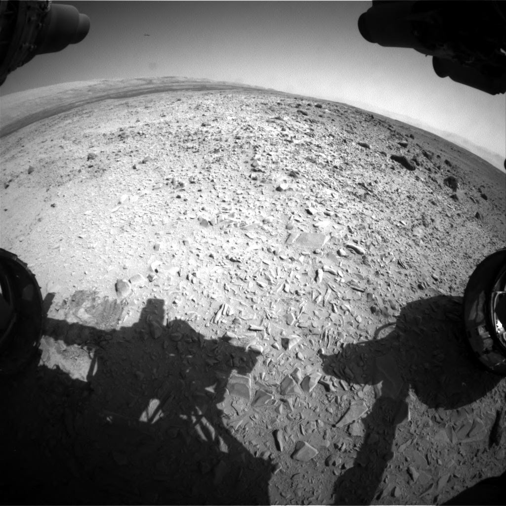 Nasa's Mars rover Curiosity acquired this image using its Front Hazard Avoidance Camera (Front Hazcam) on Sol 453, at drive 484, site number 22