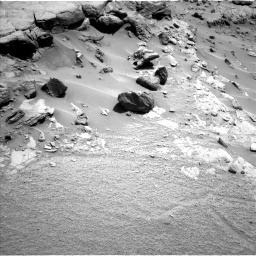 Nasa's Mars rover Curiosity acquired this image using its Left Navigation Camera on Sol 453, at drive 24, site number 22