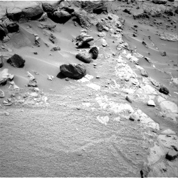 Nasa's Mars rover Curiosity acquired this image using its Right Navigation Camera on Sol 453, at drive 24, site number 22