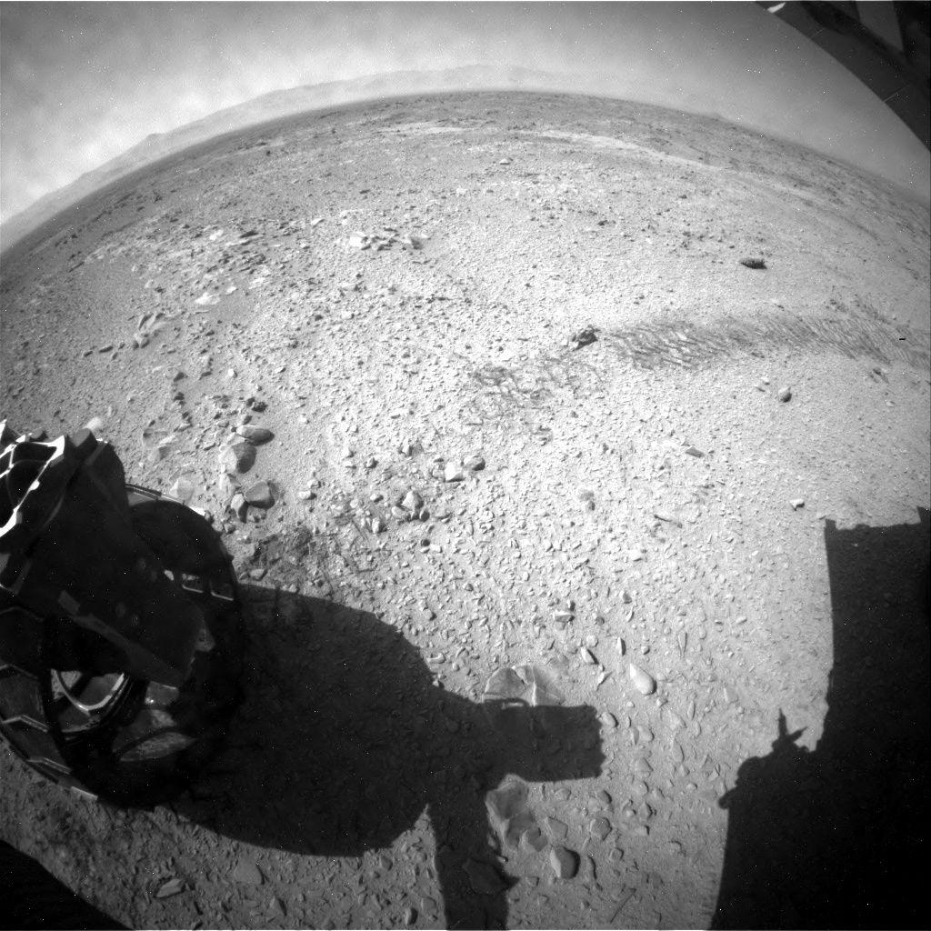 NASA's Mars rover Curiosity acquired this image using its Rear Hazard Avoidance Cameras (Rear Hazcams) on Sol 453