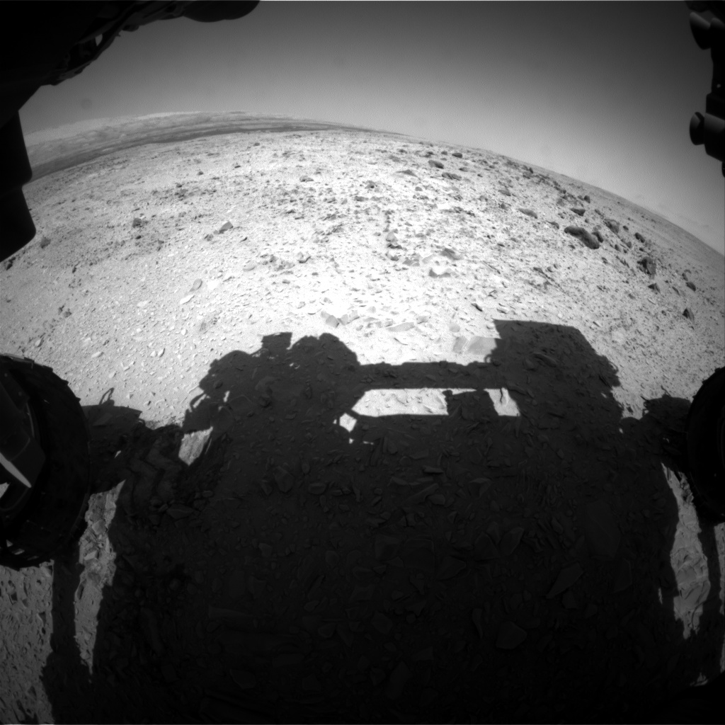 Nasa's Mars rover Curiosity acquired this image using its Front Hazard Avoidance Camera (Front Hazcam) on Sol 454, at drive 484, site number 22