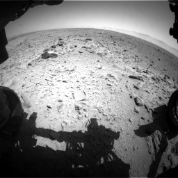 Nasa's Mars rover Curiosity acquired this image using its Front Hazard Avoidance Camera (Front Hazcam) on Sol 454, at drive 922, site number 22