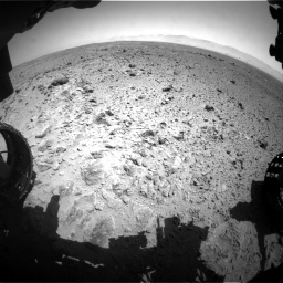 Nasa's Mars rover Curiosity acquired this image using its Front Hazard Avoidance Camera (Front Hazcam) on Sol 454, at drive 952, site number 22