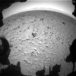 Nasa's Mars rover Curiosity acquired this image using its Front Hazard Avoidance Camera (Front Hazcam) on Sol 454, at drive 988, site number 22