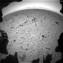 Nasa's Mars rover Curiosity acquired this image using its Front Hazard Avoidance Camera (Front Hazcam) on Sol 454, at drive 1000, site number 22