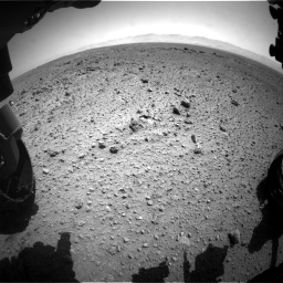 Nasa's Mars rover Curiosity acquired this image using its Front Hazard Avoidance Camera (Front Hazcam) on Sol 454, at drive 1006, site number 22