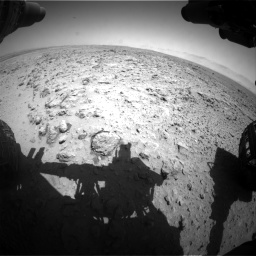 Nasa's Mars rover Curiosity acquired this image using its Front Hazard Avoidance Camera (Front Hazcam) on Sol 454, at drive 802, site number 22