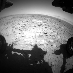 Nasa's Mars rover Curiosity acquired this image using its Front Hazard Avoidance Camera (Front Hazcam) on Sol 454, at drive 820, site number 22