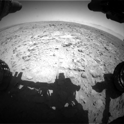 Nasa's Mars rover Curiosity acquired this image using its Front Hazard Avoidance Camera (Front Hazcam) on Sol 454, at drive 826, site number 22