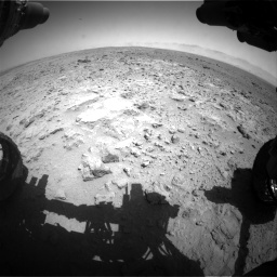 Nasa's Mars rover Curiosity acquired this image using its Front Hazard Avoidance Camera (Front Hazcam) on Sol 454, at drive 838, site number 22