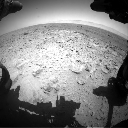 Nasa's Mars rover Curiosity acquired this image using its Front Hazard Avoidance Camera (Front Hazcam) on Sol 454, at drive 850, site number 22