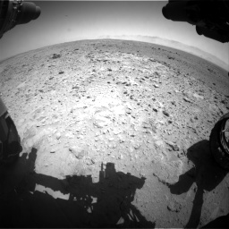 Nasa's Mars rover Curiosity acquired this image using its Front Hazard Avoidance Camera (Front Hazcam) on Sol 454, at drive 856, site number 22
