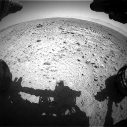 Nasa's Mars rover Curiosity acquired this image using its Front Hazard Avoidance Camera (Front Hazcam) on Sol 454, at drive 868, site number 22