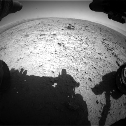 Nasa's Mars rover Curiosity acquired this image using its Front Hazard Avoidance Camera (Front Hazcam) on Sol 454, at drive 892, site number 22