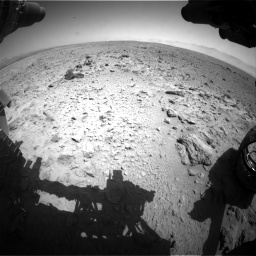 Nasa's Mars rover Curiosity acquired this image using its Front Hazard Avoidance Camera (Front Hazcam) on Sol 454, at drive 916, site number 22