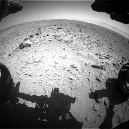 Nasa's Mars rover Curiosity acquired this image using its Front Hazard Avoidance Camera (Front Hazcam) on Sol 454, at drive 928, site number 22