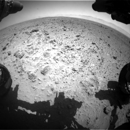 Nasa's Mars rover Curiosity acquired this image using its Front Hazard Avoidance Camera (Front Hazcam) on Sol 454, at drive 946, site number 22