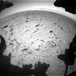 Nasa's Mars rover Curiosity acquired this image using its Front Hazard Avoidance Camera (Front Hazcam) on Sol 454, at drive 958, site number 22