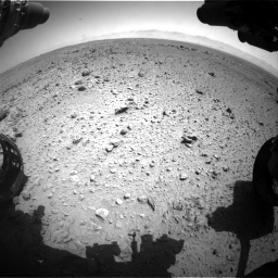 Nasa's Mars rover Curiosity acquired this image using its Front Hazard Avoidance Camera (Front Hazcam) on Sol 454, at drive 964, site number 22