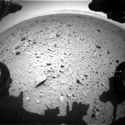 Nasa's Mars rover Curiosity acquired this image using its Front Hazard Avoidance Camera (Front Hazcam) on Sol 454, at drive 976, site number 22