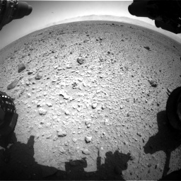 Nasa's Mars rover Curiosity acquired this image using its Front Hazard Avoidance Camera (Front Hazcam) on Sol 454, at drive 982, site number 22