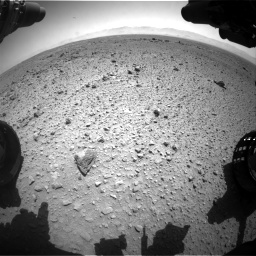 Nasa's Mars rover Curiosity acquired this image using its Front Hazard Avoidance Camera (Front Hazcam) on Sol 454, at drive 994, site number 22