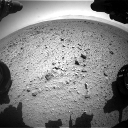 Nasa's Mars rover Curiosity acquired this image using its Front Hazard Avoidance Camera (Front Hazcam) on Sol 454, at drive 1012, site number 22