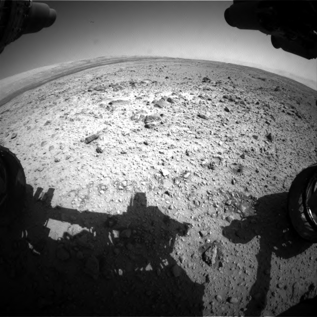 Nasa's Mars rover Curiosity acquired this image using its Front Hazard Avoidance Camera (Front Hazcam) on Sol 454, at drive 0, site number 23