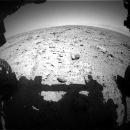 Nasa's Mars rover Curiosity acquired this image using its Front Hazard Avoidance Camera (Front Hazcam) on Sol 455, at drive 222, site number 23