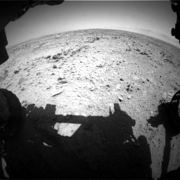 Nasa's Mars rover Curiosity acquired this image using its Front Hazard Avoidance Camera (Front Hazcam) on Sol 455, at drive 240, site number 23