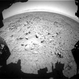 Nasa's Mars rover Curiosity acquired this image using its Front Hazard Avoidance Camera (Front Hazcam) on Sol 455, at drive 342, site number 23