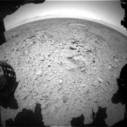 Nasa's Mars rover Curiosity acquired this image using its Front Hazard Avoidance Camera (Front Hazcam) on Sol 455, at drive 360, site number 23