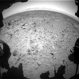 Nasa's Mars rover Curiosity acquired this image using its Front Hazard Avoidance Camera (Front Hazcam) on Sol 455, at drive 414, site number 23