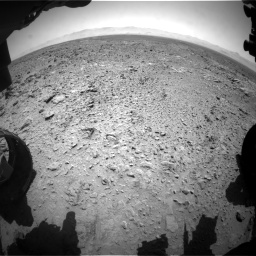 Nasa's Mars rover Curiosity acquired this image using its Front Hazard Avoidance Camera (Front Hazcam) on Sol 455, at drive 420, site number 23