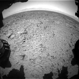 Nasa's Mars rover Curiosity acquired this image using its Front Hazard Avoidance Camera (Front Hazcam) on Sol 455, at drive 426, site number 23