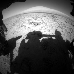 Nasa's Mars rover Curiosity acquired this image using its Front Hazard Avoidance Camera (Front Hazcam) on Sol 455, at drive 504, site number 23