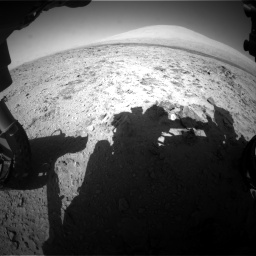 Nasa's Mars rover Curiosity acquired this image using its Front Hazard Avoidance Camera (Front Hazcam) on Sol 455, at drive 516, site number 23