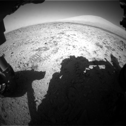 Nasa's Mars rover Curiosity acquired this image using its Front Hazard Avoidance Camera (Front Hazcam) on Sol 455, at drive 528, site number 23