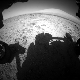 Nasa's Mars rover Curiosity acquired this image using its Front Hazard Avoidance Camera (Front Hazcam) on Sol 455, at drive 540, site number 23