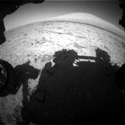 Nasa's Mars rover Curiosity acquired this image using its Front Hazard Avoidance Camera (Front Hazcam) on Sol 455, at drive 570, site number 23