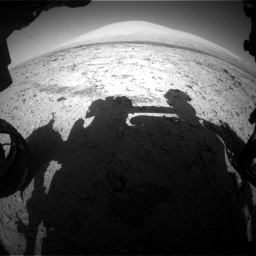 NASA's Mars rover Curiosity acquired this image using its Front Hazard Avoidance Cameras (Front Hazcams) on Sol 455