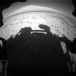 Nasa's Mars rover Curiosity acquired this image using its Front Hazard Avoidance Camera (Front Hazcam) on Sol 455, at drive 606, site number 23