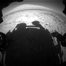 Nasa's Mars rover Curiosity acquired this image using its Front Hazard Avoidance Camera (Front Hazcam) on Sol 455, at drive 612, site number 23