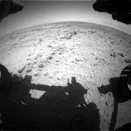 Nasa's Mars rover Curiosity acquired this image using its Front Hazard Avoidance Camera (Front Hazcam) on Sol 455, at drive 258, site number 23