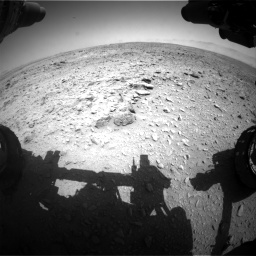 Nasa's Mars rover Curiosity acquired this image using its Front Hazard Avoidance Camera (Front Hazcam) on Sol 455, at drive 276, site number 23