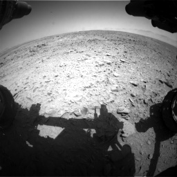 Nasa's Mars rover Curiosity acquired this image using its Front Hazard Avoidance Camera (Front Hazcam) on Sol 455, at drive 294, site number 23