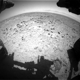 Nasa's Mars rover Curiosity acquired this image using its Front Hazard Avoidance Camera (Front Hazcam) on Sol 455, at drive 336, site number 23