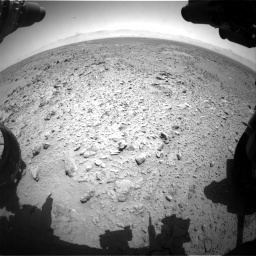 Nasa's Mars rover Curiosity acquired this image using its Front Hazard Avoidance Camera (Front Hazcam) on Sol 455, at drive 348, site number 23