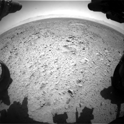 Nasa's Mars rover Curiosity acquired this image using its Front Hazard Avoidance Camera (Front Hazcam) on Sol 455, at drive 354, site number 23