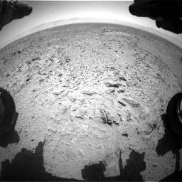 Nasa's Mars rover Curiosity acquired this image using its Front Hazard Avoidance Camera (Front Hazcam) on Sol 455, at drive 372, site number 23